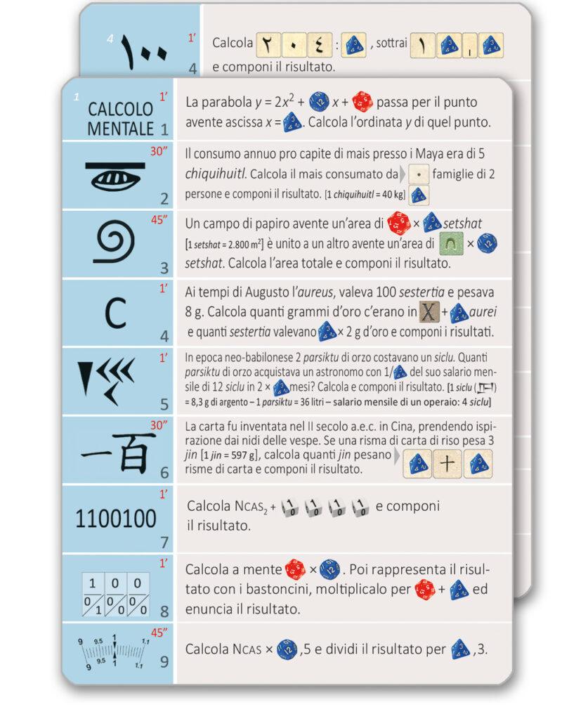 Cartellini Mathematicus - Carte Gioco avanzato