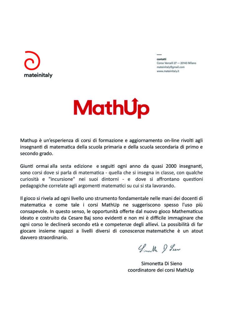 Referenza MathUp per Mathematicus